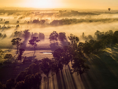 Apr 2014 - Hunter Valley Hot Air Balloon, Australia
